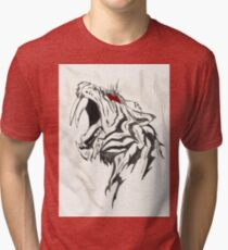 Saber Tooth Tiger Tri-blend T-Shirt