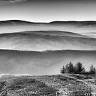 The Southern Upland Way from the Three Brethren, Scottish Borders by Iain MacLean