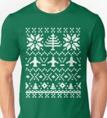 Ugly Christmas Sweater - Airplane / Pilot  T-Shirt