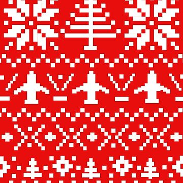Ugly Christmas Sweater - Airplane / Pilot  by DanaElyse
