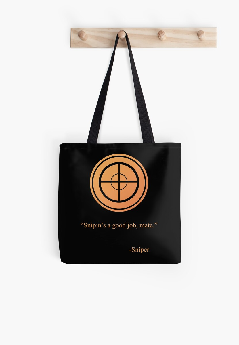 Tf2 Sniper Emblem Tote Bags By Thenothin10 Redbubble