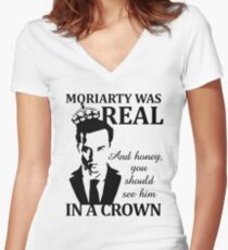 Moriarty Was Real Women's Fitted V-Neck T-Shirt