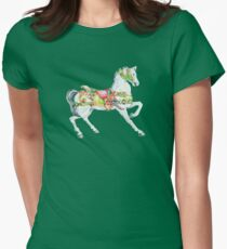 Vintage Carousel Horse Womens Fitted T-Shirt
