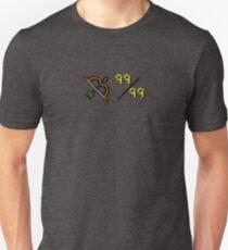 Oldschool Runescape 99 Fernkampf Unisex T-Shirt