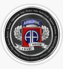 82nd Airborne Division 100th Anniversary Medallion over White Leather Sticker