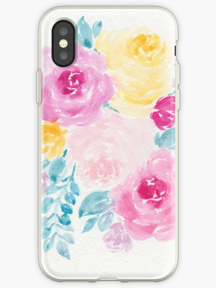 Colorful Floral Iphone Case by ktscanvases