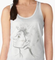 Male Face Drawing Women's Tank Top
