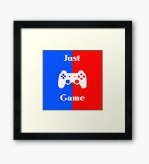Just Game Framed Print