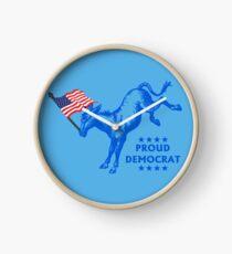 Proud Democrat Clock