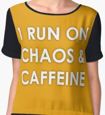 Running on Chaos and Caffeine Women's Chiffon Top