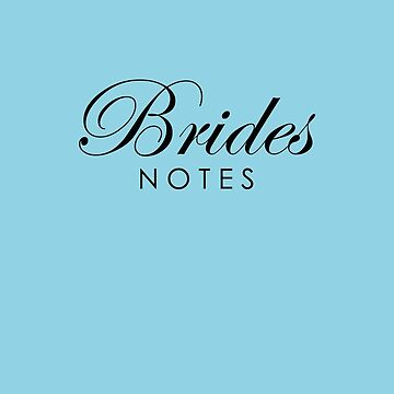 Sky Blue Brides Notebook by lollly