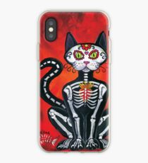 Day of the Dead Sugar Skull Cat iPhone Case