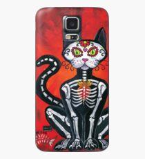 Funda/vinilo para Samsung Galaxy Día de los Muertos Sugar Skull Cat