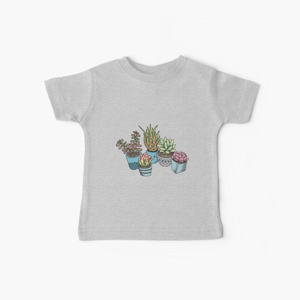 Süße Sukkulenten Baby T-Shirt