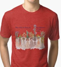 """""""They Tried to bury Us"""" Water Colour Tri-blend T-Shirt"""