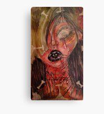 Gorey Girl Metal Print