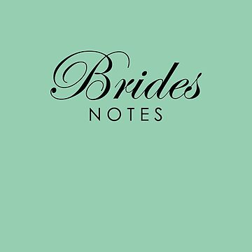 Brides Journal Notebook Dusk Green by lollly