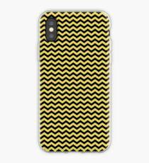 Yellow & Black Wavy Line Pattern iPhone Case