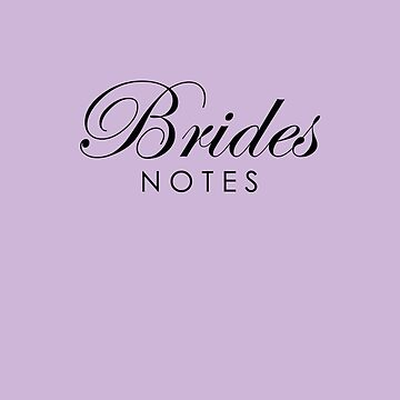 Pale Lavender Brides Notes Book by lollly