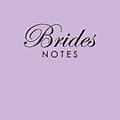 Pale Lavender Brides Notes Book by Melissa Park