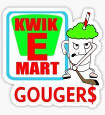 KWIK-E-MART Gougers Hockey Team Logo Sticker