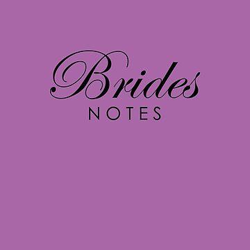 Purple Brides Wedding Notebook by lollly
