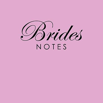 Pink Lilac Brides Notebook by lollly