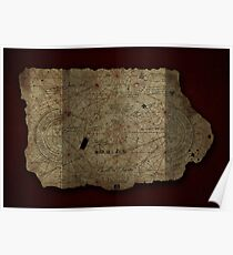 Goonies Treasure Map Poster