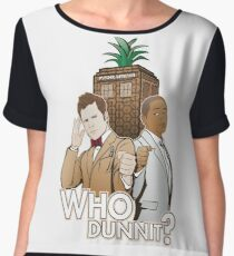 Who Dunnit? Psych Doctor Who Chiffon Top
