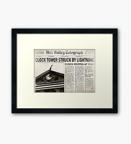 Hill Valley Telegraph Framed Print