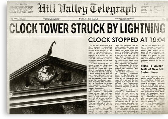 Hill Valley Telegraph by Indestructibbo