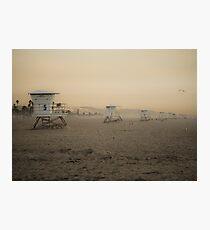 Huntington Lifeguard Stations  Photographic Print