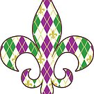 Mardi Gras Argyle by Valerie Hartley Bennett