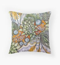 Zen Cactii Throw Pillow