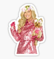 sharpay and dog flower crowns Sticker