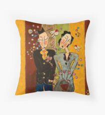 Purple Tulip Couple Throw Pillow