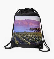 Okanagan Vineyard  Drawstring Bag
