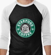 Star Pugs Coffee - Starbucks Men's Baseball ¾ T-Shirt
