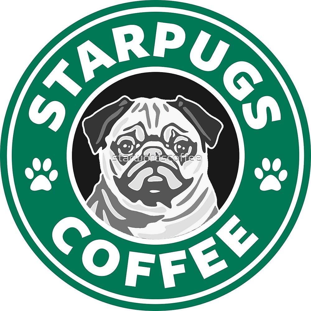 Quot star pugs coffee starbucks quot by starwordscoffee redbubble