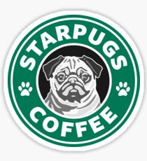 Star Pugs Coffee - Starbucks Sticker