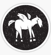 Pegasus Block Print Sticker