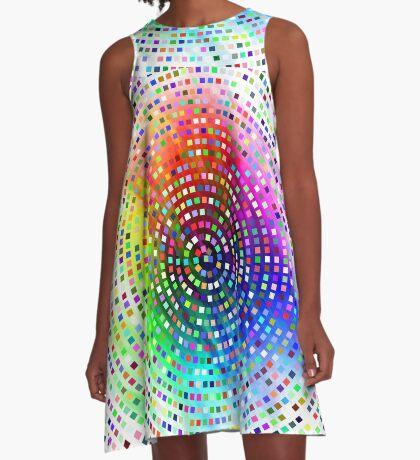 Color Swirl by Julie Everhart A-Line Dress
