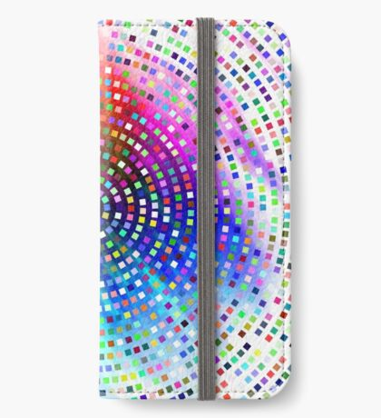 Color Swirl by Julie Everhart iPhone Wallet