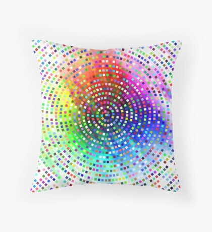 Color Swirl by Julie Everhart Throw Pillow