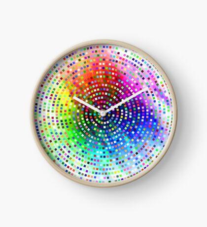 Color Swirl by Julie Everhart Clock