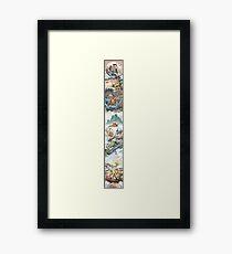 Video Game Tapestry! Framed Print
