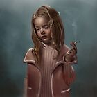 Smoking child by George khukhunaishvili