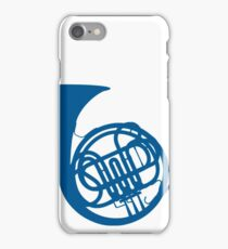 Blue French Horn iPhone Case/Skin