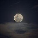 Nov 6, 2014 Full Moon  in Cloudy Sky (portrait) by Sandra Chung