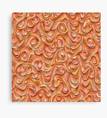 Surface texture #DeepDream #Art Red Canvas Print
